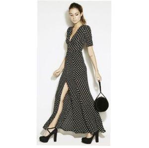 Reformation Hydrangea Polka Dot Dress